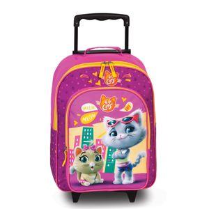 Fabrizio  Kids 44 Cats Kindertrolley 42 cm   2 Rollen 28 l - Pink