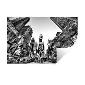 Wandaufkleber - New York - NYC - Schwarz - Weiß - 120x80 cm - Repositionierbar