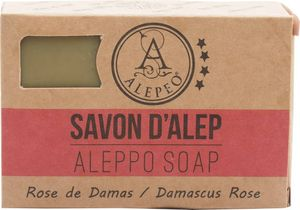 ALEPEO | Aleppo Seife | Formseife Rose | Mit Lorbeer- & Olivenöl für Körper & Haar | 100% Vegan, Handgemacht, ohne Palmöl