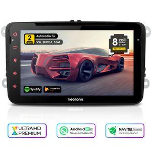 NEOTONE WRX-980A Autoradio für VW   Skoda   Seat   ANDROID 10  Navigation mit Europakarten 2020   8 Zoll   DVD   DAB+ Unterstützung   USB   Octa-Core   4K Ultra HD Video   WLAN   Bluetooth   MirrorLink   RDS