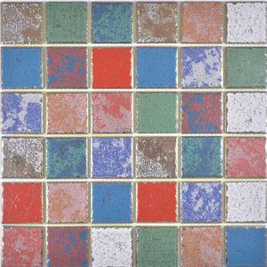 buntes Keramikmosaik Vintage Retro used look Mosaikfliese Wand Fliesenspiegel Küche Bad MOS24-1234_f