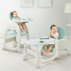 Daliya® Multihok Baby & Kinder Hochstuhl Multifunktion - Mal und Spieltisch mit Stauraum - Esstisch mit extra Tablet Kinderstuhl Kindertisch Babystuhl Hocker Kinderstuhl Kinderhochstuhl Treppenhochstuhl Essstuh (Türkis)