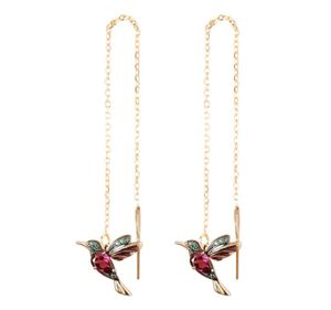 Kolibri Kettchen Ohrringe Strass Hänger Kette Vogel Vögel Straß stein rosegold