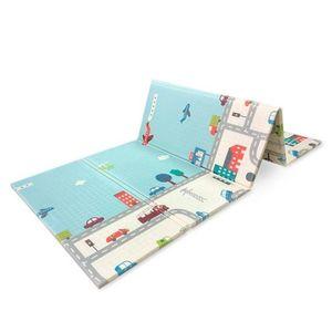 Doppelseitige Baby Spieldecke - Faltbarer Schaumstoff - Bodenmatte für Kinder 180 x 200 in zwei Muster