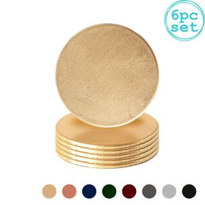Argon Ta 6 Stück Metallic Coaster Set - Metallic-Finish - 10 cm - Gold