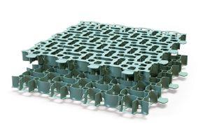Rasengitter aus Kunststoff, Bodengitter, Wegeplatten grün 20 Platten (= 5 m²)