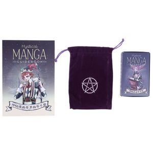 Mystische Manga Tarot 78 Karten Deck Familie Party Brettspiel Divination Mit Karten Tasche Und Reiseführer