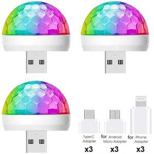 3x USB Mini Disco Lichter Stage DJ Lichter Für Party KTV DJ Wedding Show Pool