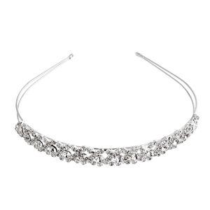Elegante Kristall Strass Party Braut Tiara Stirnband Hai Band Verschluss Glitter
