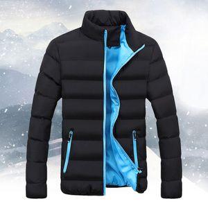 Männer Winter Warm Slim Fit Dicker Bubble Coat Freizeitjacke Oberbekleidung Größe:XL,Farbe:Blau