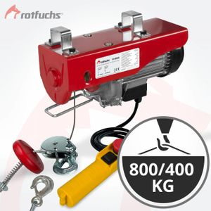 Rotfuchs® Elektrische Seilwinde Motorwinde Hub Seilhebezug Seilzug Winde Kran Tragfähigkeit 400kg bis 800kg