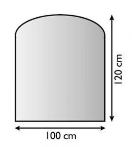 Funkenschutzplatte Metall Lienbacher anthrazit Segmentbogen 100x120cm