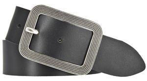 MYTEM-GEAR Damen Leder Gürtel 40 mm Damengürtel Ledergürtel schwarz 80