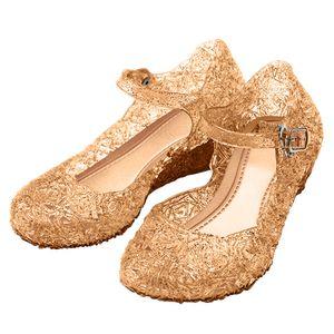 Beige, Gold, Braune Prinzessin Schuhe Frozen Eiskönigin Anna Schnee-Königin Schuhe für Kinder, Golden, EU Gr. 30 - CN32