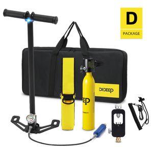 Scuba 0.5L Sauerstoffflasche Unterwasseratemgerät Adapt Kit Tauchflaschen
