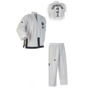adidas taekwondopak Dobok ITF Black Belt Championweiß mt 160