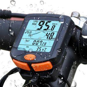 Jedonr®Fahrradcomputer Kabellos Drahtloser Wasserdichter Radcomputer mit Stoppuhr, Geschwindigkeit Fahrradtacho,Hintergrundbeleuchtung LCD Display (Schwarz)