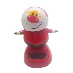 3er-Set Weihnachtsdeko Solarfigur Wackelfigur Solar Deko Figur Dekoration