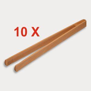 10 Stück = Grillzange, geleimt aus Holz 30 cm