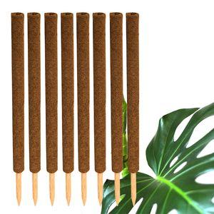 8x Kokos Pflanzstab 80cm Rankstab Kokosfaserstab Kokosstab verlängerbar