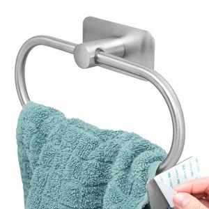 bremermann Bad-Serie PIAZZA TAPE Handtuchhalter selbstklebend Edelstahl, matt kein Bohren 3M Klebebefestigung Handtuchring