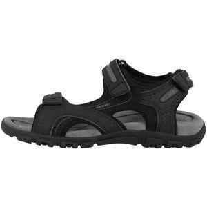 GEOX Herren klassische Sandale Schwarz Schuhe, Größe:42