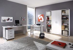 Komplettbüro OFFICE LINE Komplettset Homeoffice Weiß