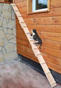 Ruhti - Katzentreppe Katzenleiter Katzenstufe für Balkon, Treppe etc., 2 m