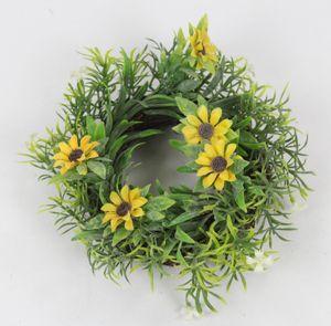 Deko Kranz Sonnenblume klein Ø 15 cm