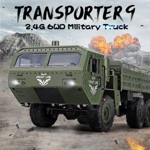 JJRC Q75 RC Militaer-LKW 6WD 2,4 GHz Armee-LKW Offroad-Auto Geschenk fuer Erwachsene Kinder Jungen