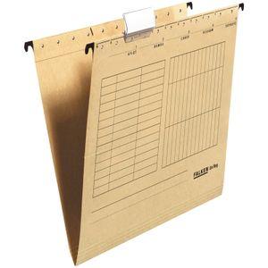 200 x FALKEN Hängemappe DIN A4 UniReg Braun 230 g/m² Kraftkarton
