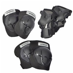 Apollo Protektoren Set Knie- Ellenbogen und Handgelenkschoner Set Größe M - schwarz