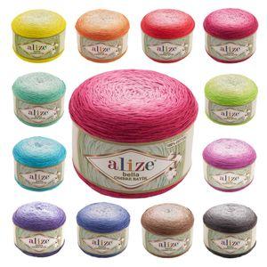 250g Farbverlaufsgarn Alize Bella Ombre Batik XL Strickgarn Häkelgarn Farbwahl, Farbe:7429 Violetttöne