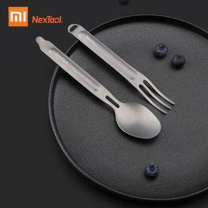 Xiaomi Nextool Outdoor Titan Gabel Loeffel Kochen Titan Loeffel Geschirr Besteck Spork Set Portable fuer Camping Picknick