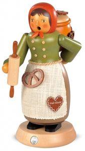 Räucherfigur Räuchermann groß Lebkuchenverkäuferin (BxH):14x25cm NEU