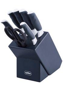 Zyliss messerblock 21 x 36 cm grau/weiß 7-teilig