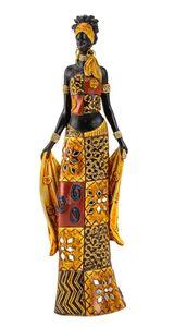 Afrikanerin 35 cm Dekofigur edle Massai afrikanische Frau
