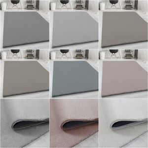 Kunstfell Teppich Ultra Soft Wohnzimmer Fellteppich Imitat Flauschig Einfarbig, Grösse:160x230 cm, Farbe:Grau