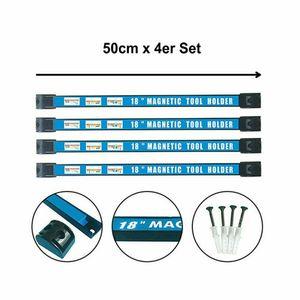 50cm Magnetleiste Werkzeughalter Werkzeugleiste Halterung 4X SET