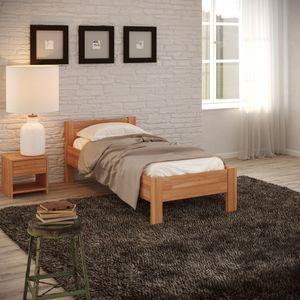 Krok Wood Seniorenbett SiSi aus Massivholz in Buche 100 x 200 cm