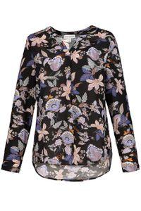Gina Laura Bluse, Floraldruck mit Stehkragen schwarz NEU, Größe:40