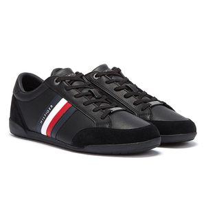 Tommy Hilfiger Corporate Material Mix Cupsole Herren Schwarze Sneaker