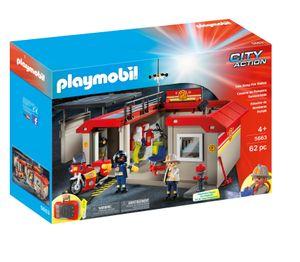 Playmobil 5663 City Action Mitnehm-Feuwehrstation