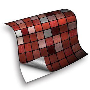 25 Stück Mosaikfliesenaufkleber Selbstklebende wasserdichte Wandaufkleber