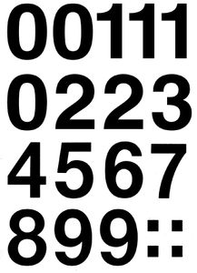 HERMA Zahlen-Etiketten 0-9, 33 mm, wetterfest, Folie