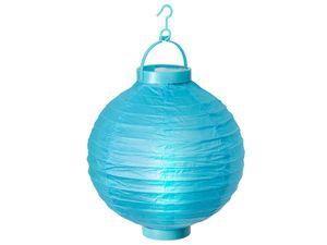 Alsino LED Papier Lampion Papierlaterne Laterne 20 cm Gartendeko Dekoration, Variante wählen:L-01 blau