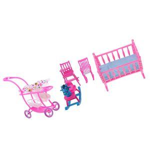 Kunststoff Kinderwagen Modell \\u0026 Baby Zimmer Möbel für Barbie Puppenhaus Dekor gesetzt