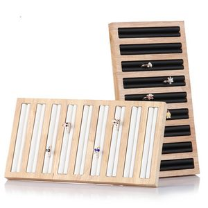 2 Stücke Holz Schmucklade Schmuckvitrine Ohringhalter Ringhalter, Weiß