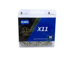 KMC X11 Grau Kette 11-fach 118 Glieder für Shimano, Sram, Campa