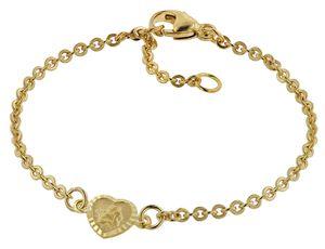 trendor 75091 Armband für Babys 333 Gold/8 Kt mit Engel-Plakette 14 cm